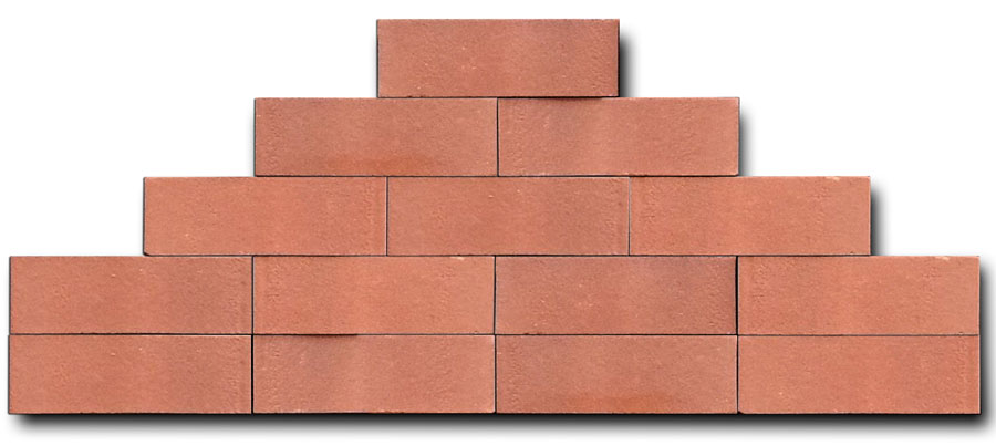 Volcanic Red Face Bricks